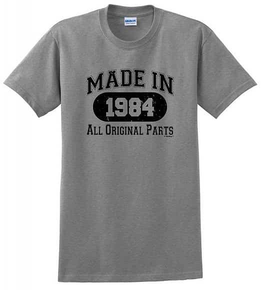 Made in 1984 30th Birthday Distressed Look T-Shirt