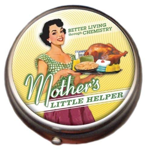 Mother's Little Helper Chrome Pill Box