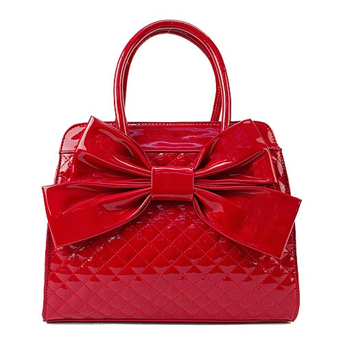 Scarleton Quilted Patent Satchel