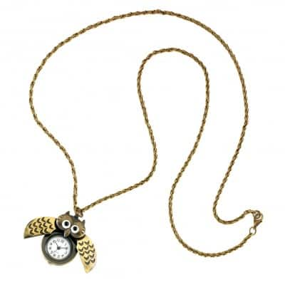 Tick-Tock Watch Owl Necklace