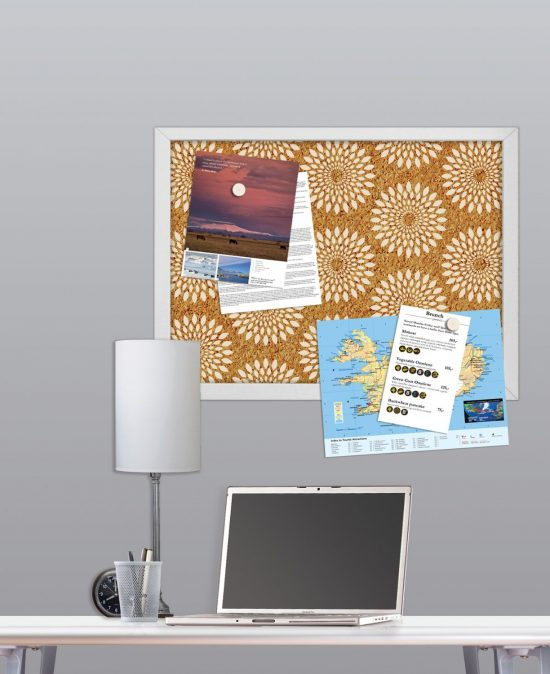 Wall Pops HB0689 Catalina Printed Cork Board