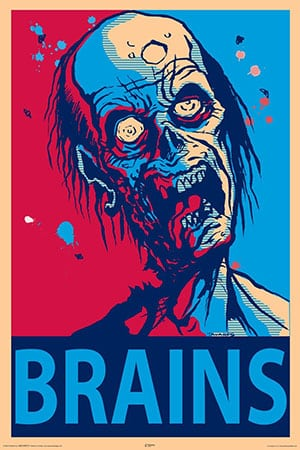 Zombie Brains Decorative Poster