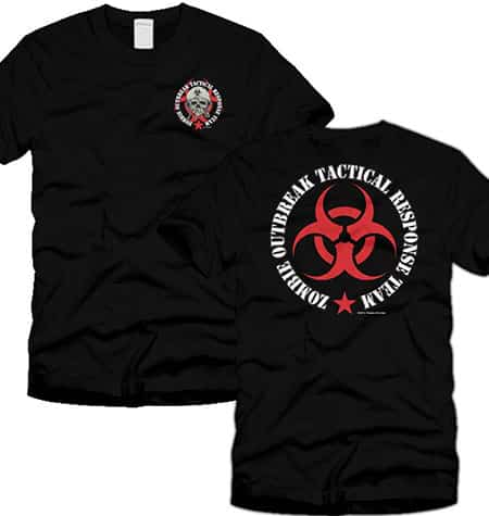 Zombie Outbreak Containment with Skull T-shirt