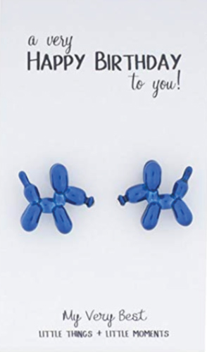 My Very Best Cute Balloon Dog Stud Earrings