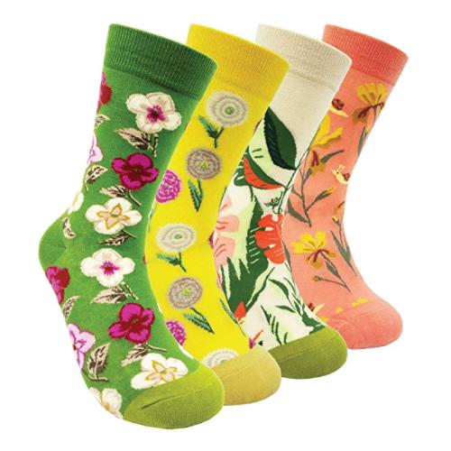 Flower Pattern Cotton Socks