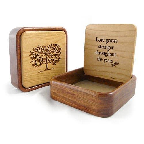 Love Grows Stronger Wood Keepsake Box