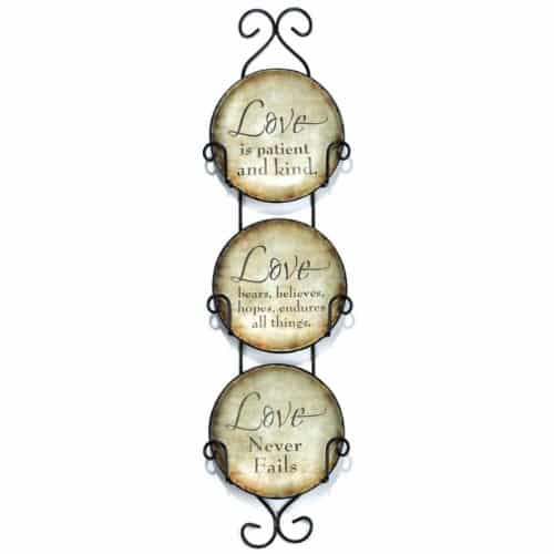 Love Never Fails Decorative Plates