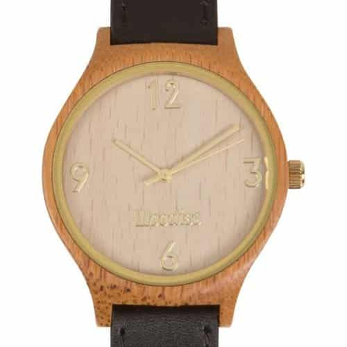 Bamboo Watch (black & gold)