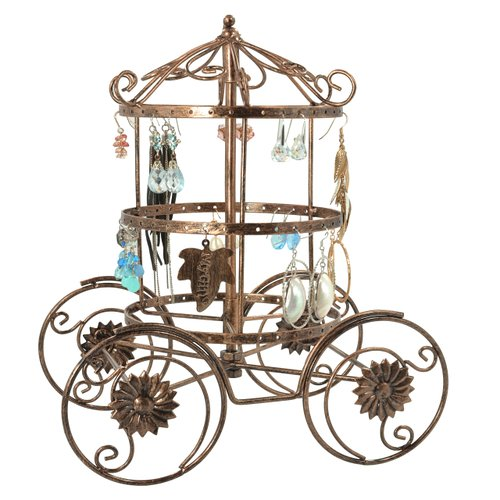 Cinderella Rotating Carriage Jewelry Display Stand