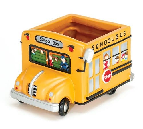 School Bus Planter. Retirement Gifts for Teachers