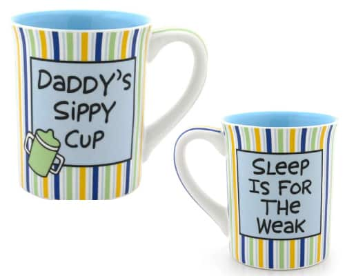 Daddy Sippy Cup Dad Mug by Lorrie Veasey