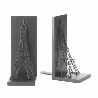 Paris Eiffel Tower Black Bookends