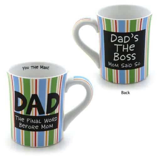 Enesco Our Name Is Mud by Lorrie Veasey - Dads the Boss Mug