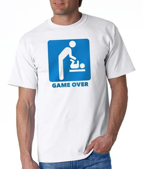 Adult Game Over New Father Funny T-Shirt