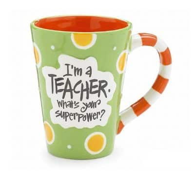 Super Power Teacher Coffee Mug (Retirement Gifts For Teachers)