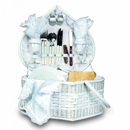 Picnic Time Wedding Heart Picnic Basket