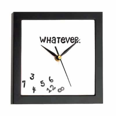 Whatever Wall Clock (Retirement Gifts For Teachers)