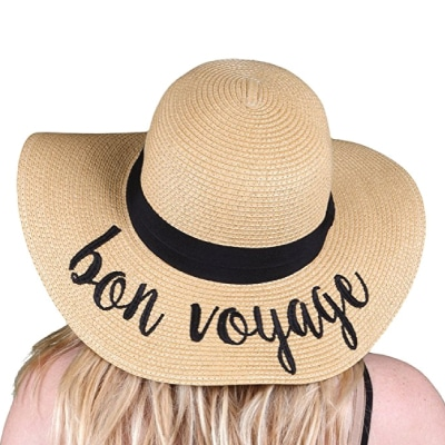 Bon Voyage Hat. Retirement Gifts for Teachers.