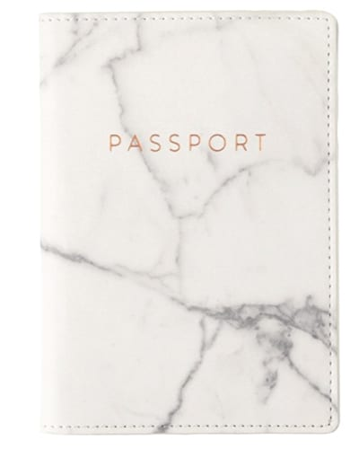 Marble Passport Holder. Teacher Retirement Gift Ideas.