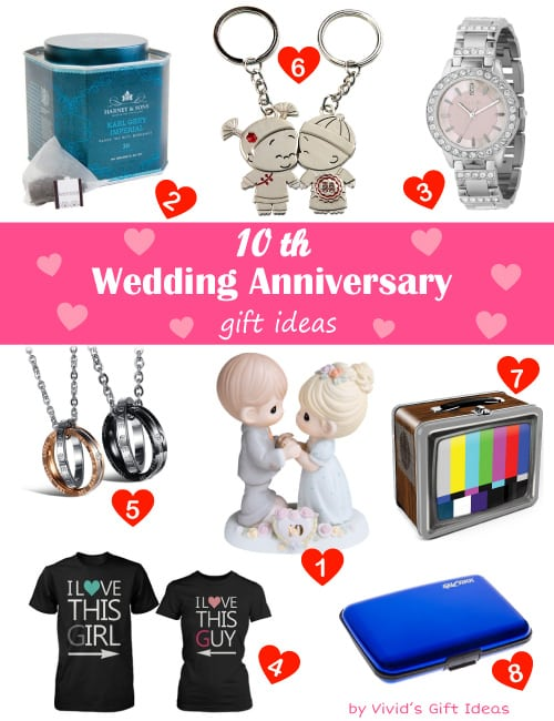 10 Year Wedding Anniversary Gifts