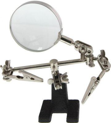 SE Helping Hands Soldering Hobby Station with Magnifying Glass