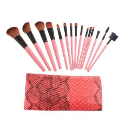 niceEshop Professional Makeup Brush Set With Pink Bag