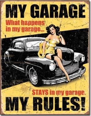 My Garage Tin Sign