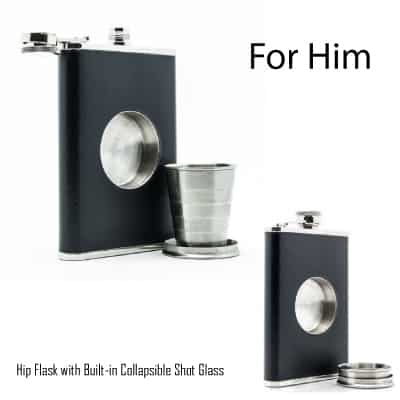 The Original Shot Flask - Hip Flask with Shot Glass