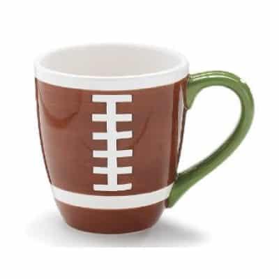 brown football mug