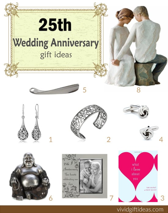 Top 28 wedding anniversary gifts 25th wedding silver for Best marriage anniversary gifts