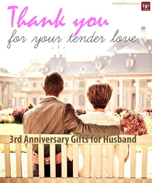 3rd Wedding Anniversary Gift Ideas For Him Vivids