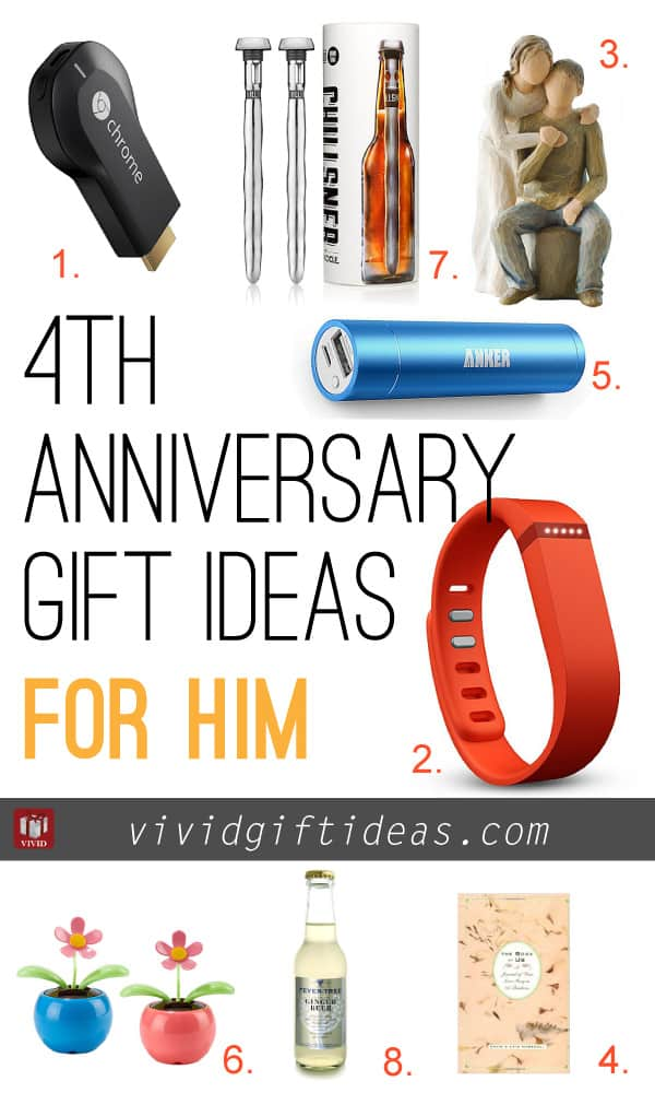 4th wedding anniversary gift ideas vivid 39 s gift ideas What is the 4 year wedding anniversary gift