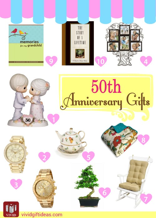 50th wedding anniversary gifts vivid 39 s for Present for 50th wedding anniversary