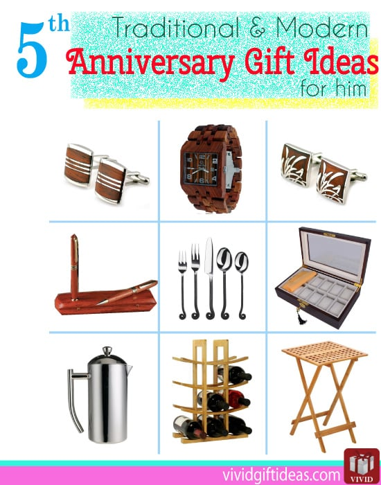 5th Anniversary Gifts Traditional Modern Gift Ftempo