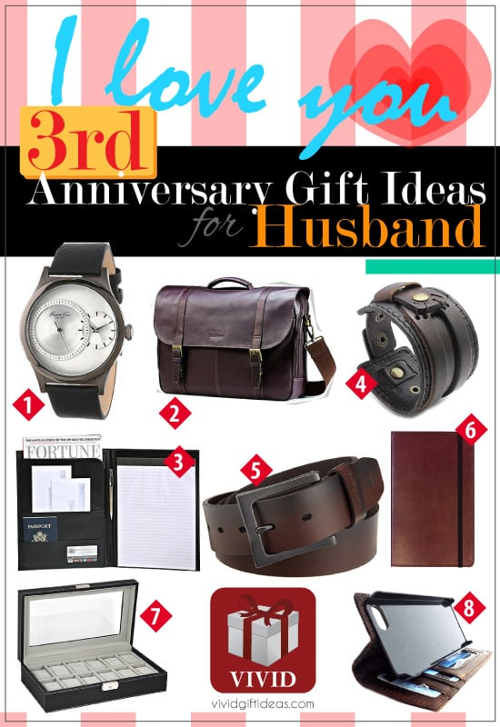 3rd Wedding Anniversary Gift Ideas for Husband