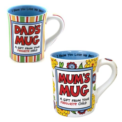 Dad's and Mum's Favorite Child Mug