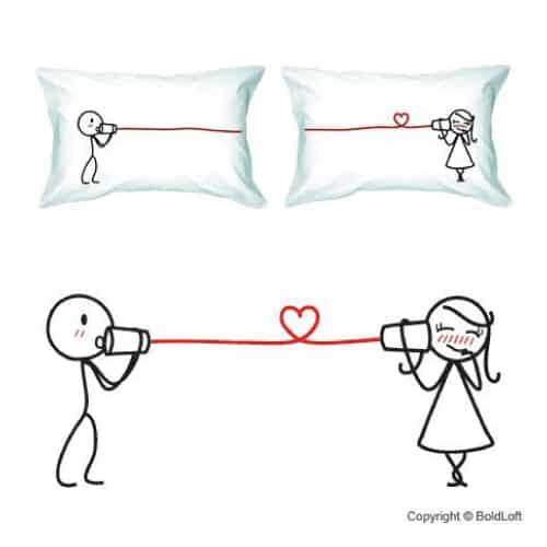 BoldLoft Couple Pillowcases Set