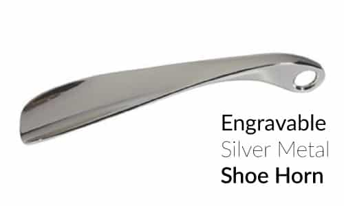 Kingsley Silver Plated Engravable Shoe Horn