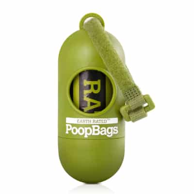 Earth Rated Green Dispenser with Dog Waste Poop Bags