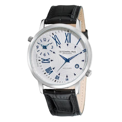 Stuhrling Original Symphony Eclipse Polaris Date and Dual Time Zone Watch