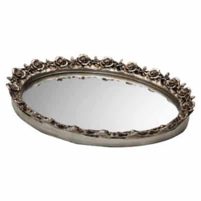 Taymor Antique Oval Mirror Trays