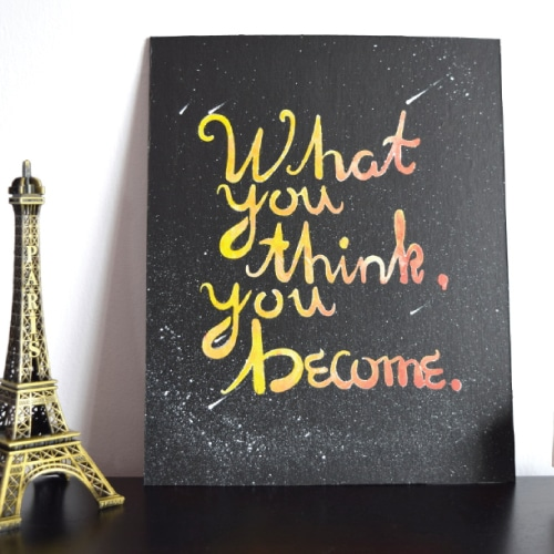 What You Think, You Become Wall Art - Retirement Gift Ideas