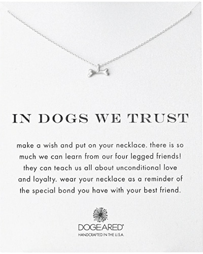 Dog Bone Charm Necklace | Dog Lover Gifts
