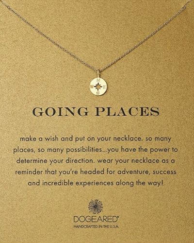 Dogeared Going Places Compass Necklace - Retirement Gift Ideas For Women