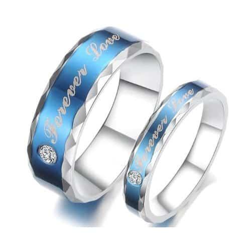 going away gift ideas for boyfriend - Blue Titanium Promise Ring