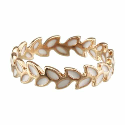 18k Yellow Gold Plated Olive Ring