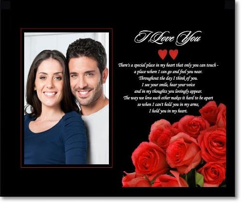 going away gift ideas for boyfriend - Love Poem Picture Frame