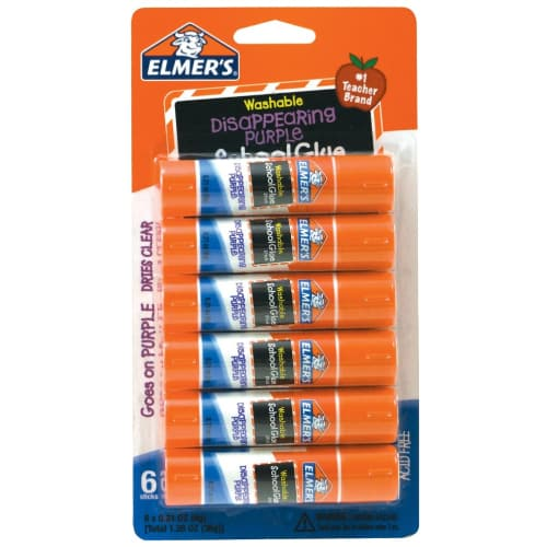 Elmer's Disappearing Purple School Glue Sticks
