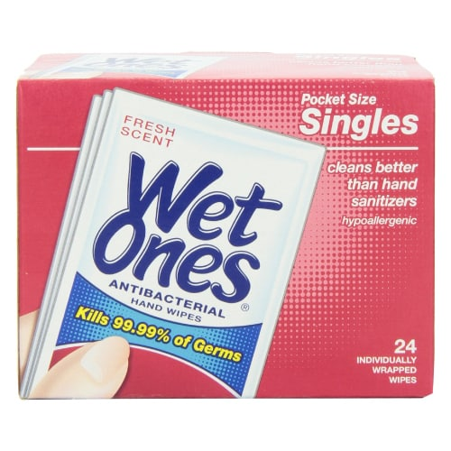 Wet Ones Antibacterial Hand Wipes Singles