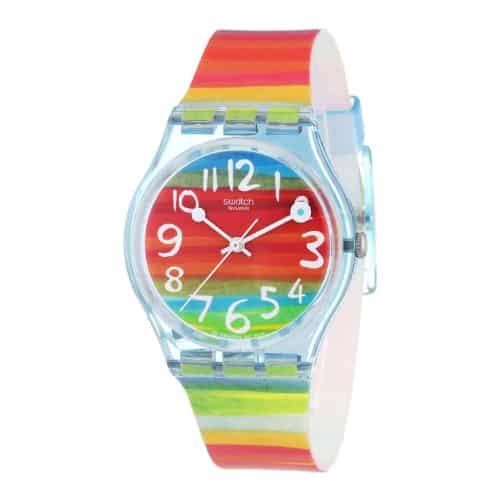 Swatch Women's GS124 Quartz Rainbow Dial Watch